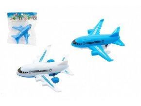 Letadlo plast 9cm volný chod 2 barvy v sáčku