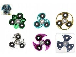 Fidget Spinner chrom 6 druhů v PVC boxu skladem