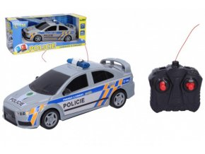 Auto RC Policie ČR plast 23cm 27 MHz na baterie v krabici skladem