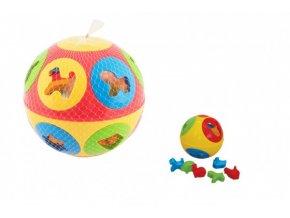 Vkládačka míč plast průměr 13cm 2 barvy skladem
