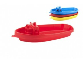 Loď do vody plast 38cm 3 barvy skladem ŽLUTÁ