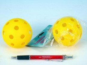Míček floorbalový plast průměr 7cm asst 2 barvy v sáčku skladem ZELENÝ