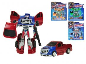 Auto/robot 15cm 2v1 4barvy na kartě