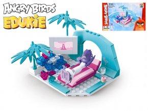 EDUKIE stavebnice Angry Birds pláž 97ks + 1figurka v krabičce