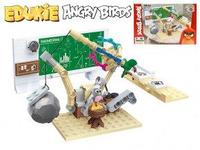 EDUKIE stavebnice Angry Birds technické středisko 100ks + 1figurka v krabičce