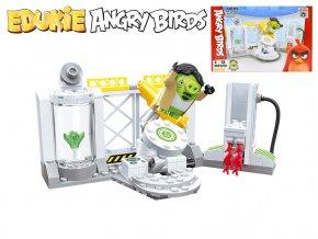 EDUKIE stavebnice Angry Birds výzkumné středisko 130ks + 1figurka v krabičce