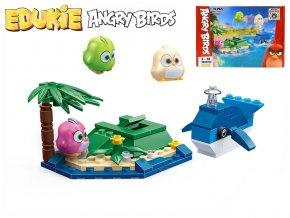 EDUKIE stavebnice Angry Birds ostrov s velrybou 75ks + 3figurky v krabičce