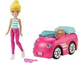 mattel barbie mini panenka s ruzovym autem