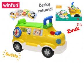 Auto edukační/odrážedlo 42x22x30 česky mluvící na baterie se světlem a zvukem skladem