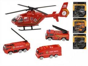 vozidla kov 7cm 3ks volny chod s vrtulnikem 17cm 4druhy v krabicce vojaci