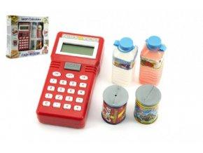 Ruční pokladna se skenerem + potraviny plast na baterie v krabici skladem