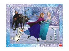 Puzzle Ledové království/Frozen: Na bruslích deskové 40 dílků 37x29cm