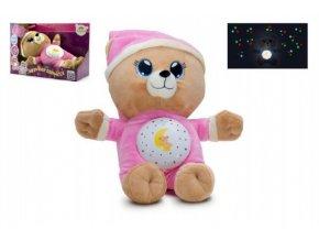 Medvídek Usínáček růžový plyš 32cm se světlem a zvukem