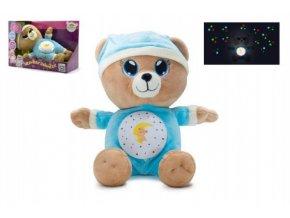 Medvídek Usínáček modrý plyš 32cm se světlem a zvukem