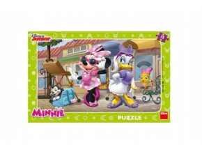 Puzzle deskové Minnie na Montmartru 15 dílků