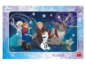 Puzzle Sněhové vločky deskové 15 dílků Frozen/Ledové království