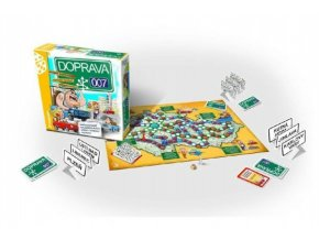 DOPRAVA 007 rodinná společenská hra v krabici