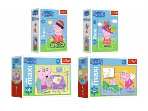 Minipuzzle miniMaxi 20 dílků Zábava s Peppou Pig/Peppa pig