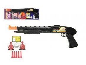pistole brokovnice na prisavky s doplnky plast 50cm na karte