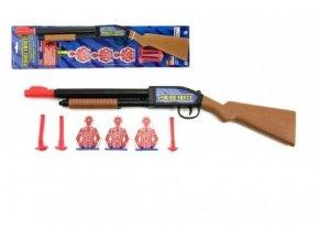 pistole puska na prisavky plast 49cm na karte