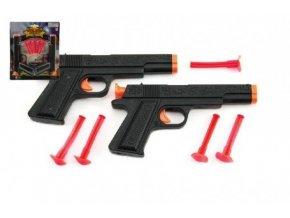 pistole na prisavky 2ks policie plast