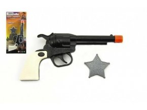pistole kolt klapaci serifska hvezda plast