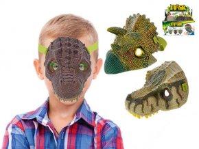 maska dinosaurus 19cm 3druhy