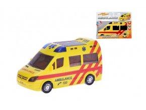 ambulance 20cm narazeci na baterie se svetlem a zvukem