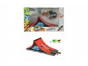 skateboard prstovy sroubovaci s rampou plast v krabici