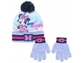 Sada rukavice, čepice s bambulí - Disney Minnie skladem