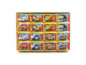 A-08521-BP Minipuzzle Pohádková auta 54 dílků 16,5x11cm asst 8 druhů v krabici (1 ks)