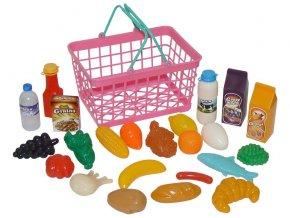 Košík - supermarket růžový skladem