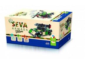 Stavebnice SEVA ARMÁDA Bitva plast 958ks v krabici 27x38x18cm