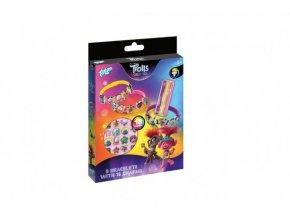 Vyrob si náramek Trollové/Trolls world tour kov/plast v krabičce 15x21x2,5cm