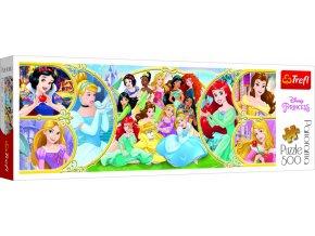 Puzzle panoramatické puzzle Návrat do světa princezen 500 dí