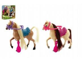 Kůň česací s doplňky plast 16cm skladem