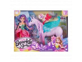 Víla Sparkle Girlz s jednorožcem svítícím