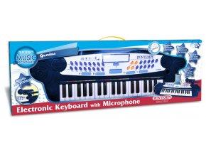 Elektronické klávesy s mikrofonem