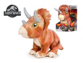 jursky svet 2 triceratops 30cm plysovy sedici
