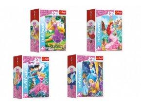 Minipuzzle 54 dílků Dobrodružný svět princezen skladem