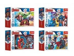 Minipuzzle 54 dílků Avengers/Hrdinové skladem