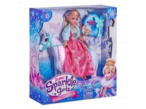 Princezna zimní Sparkle Girlz s koněm