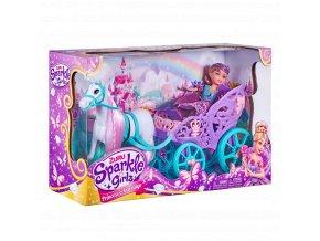 Princezna Sparkle Girlz s koněm a kočárem