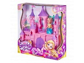 Zámek pro princezny Sparkle Girlz s panenkou