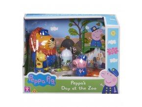 Prasátko Peppa sada ZOO - 3 figurky a doplňky