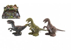 Dinosaurus natahovací jezdící plast 9x15cm na baterie se světlem mix druhů (1 ks)