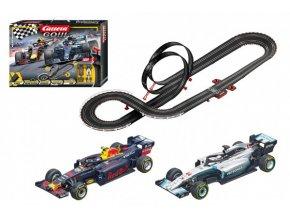 Autodráha Carrera GO!!! 62524 Racing Heroes 5,3m + 2 formule v krabici 58x40x10cm