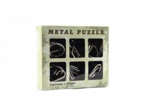 Hlavolam kov 6ks v krabičce 14x12cm