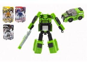 Transformer auto/robot plast 13cm 4 druhy na kartě