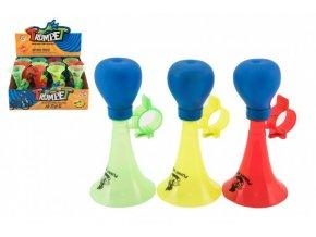 Klakson trumpeta na kolo plast 14cm 3 barvy (1 ks)